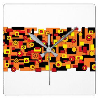 red mélimélo square wall clock