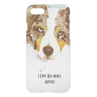 Red Merle Australian Shepherd Dog iPhone 8/7 Case