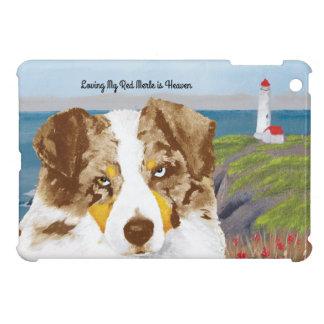 Red Merle Australian Shepherd Dog, Lighthouse iPad Mini Cases