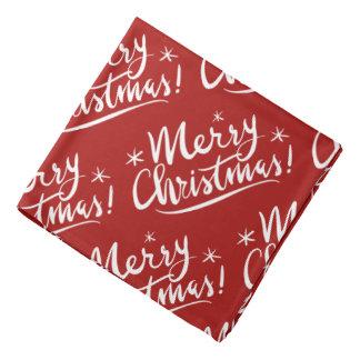 Red Merry Christmas dog bandana pet kerchief