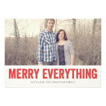 Red Merry Everything Christmas Photo Flat Cards
