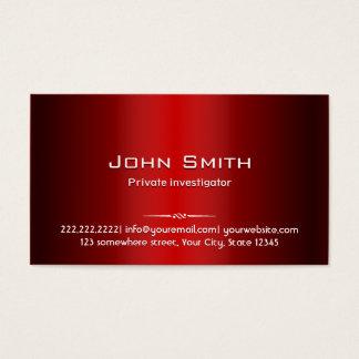 Red Metal Investigator Business Card