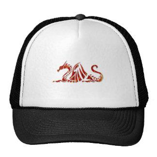 Red Metallic Dragon Mesh Hats