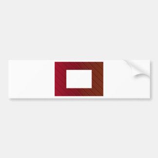 Red Metallic Frame Bumper Sticker