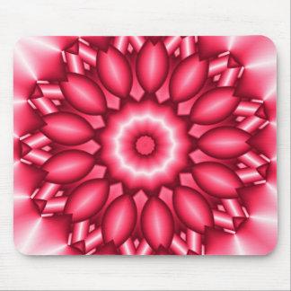 Red Metallic Geometric Design Mouse Pad
