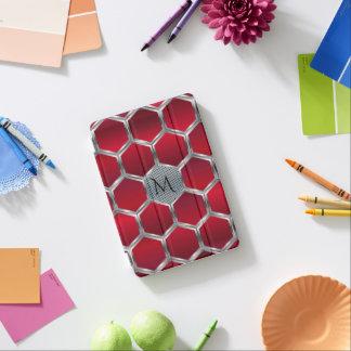 Red & Metallic Silver Geometric Pattern GR2 iPad Mini Cover