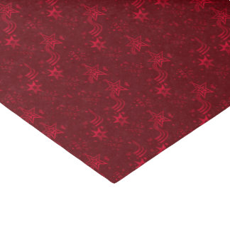 Red Metallic Stars-TISSUE WRAPPING PAPER
