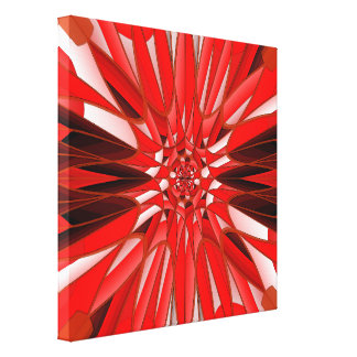 Red mineral canvas print