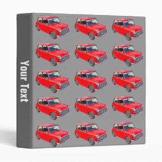 Red Mini Cooper Antique Car Binders