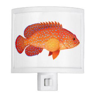 Red Miniatus Grouper Fish Night Light