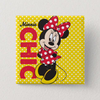 Red Minnie | Chic 2 Inch Square Button
