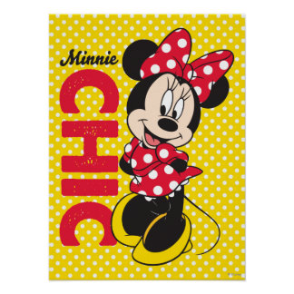 Red Minnie | Chic Poster