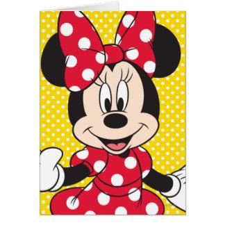 Red Minnie   Cute Closeup Card