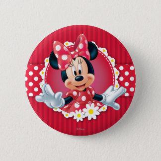 Red Minnie | Flower Frame 2 Inch Round Button