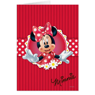 Red Minnie | Flower Frame Card