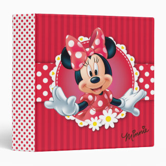 Red Minnie | Flower Frame Vinyl Binders