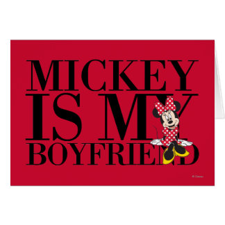 Red Minnie | Mickey is My Boyfriend Card