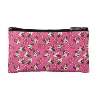 Red Minnie | Pink Pattern Makeup Bag