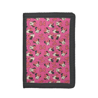Red Minnie | Pink Pattern Trifold Wallet