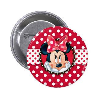 Red Minnie | Polka Dot Frame 2 Inch Round Button