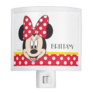 Red Minnie | Polka Dots - Add Your Name Nite Lite