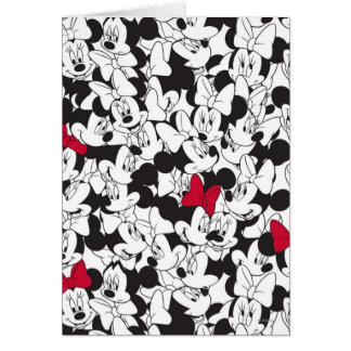Red Minnie   Red Bow Pattern Card