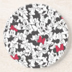 Red Minnie | Red Bow Pattern Coaster
