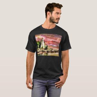 Red Mist Lighthouse Artistic T-Shirt