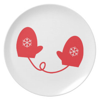 Red Mittens Plate