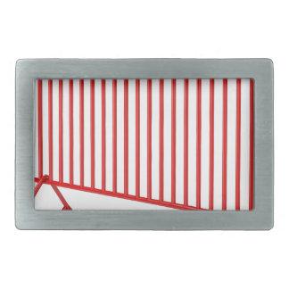 Red mobile fence belt buckle
