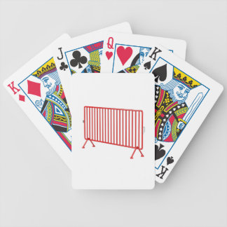Red mobile fence bicycle playing cards