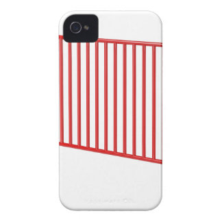 Red mobile fence iPhone 4 cover