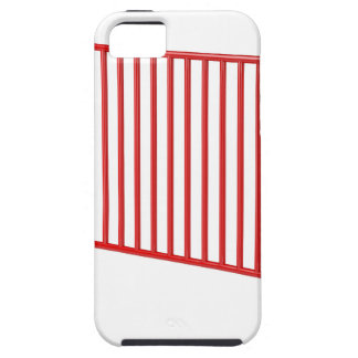 Red mobile fence iPhone 5 cases