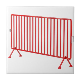 Red mobile fence tile