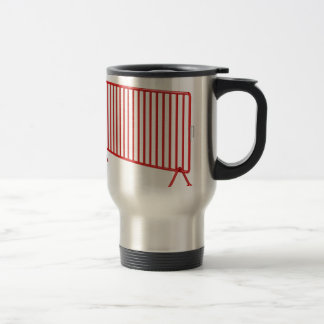 Red mobile fence travel mug