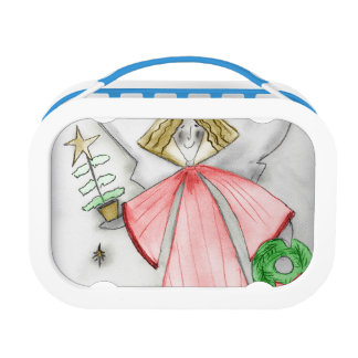 Red Mod Angel Lunch Box
