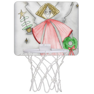 Red Mod Angel Mini Basketball Hoop