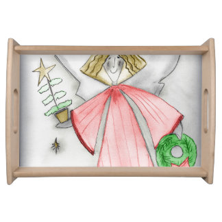 Red Mod Angel Serving Tray