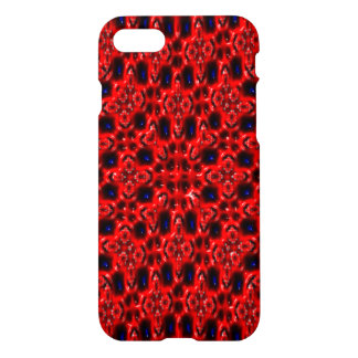 Red modern abstract cool pattern iPhone 7 case