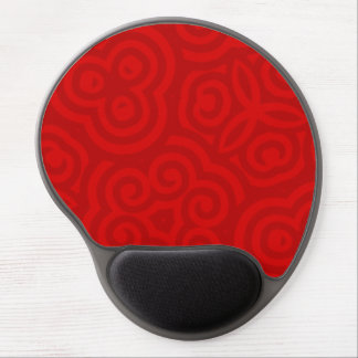 Red modern abstract pattern gel mousepad