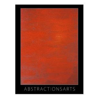 Red Modern Art Postcard