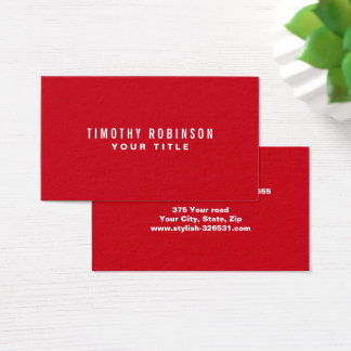 Red modern generic simple masculine personal business card