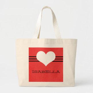 Red Modern Heart Tote Bag