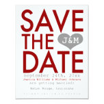 Red Modern Save the Date Announcement