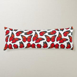 Red Monarch Butterfly Pattern Body Pillow