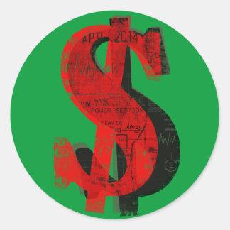 Red Money Classic Round Sticker