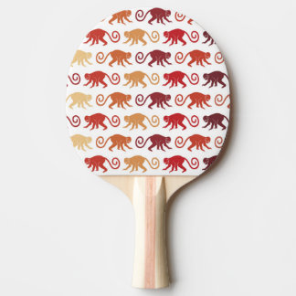 Red Monkeys Pattern Ping-Pong Paddle