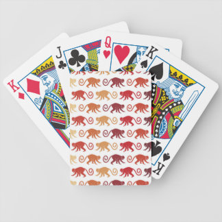 Red Monkeys Pattern Poker Deck
