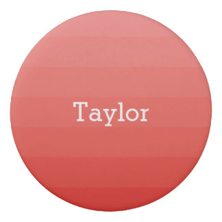 Red Monochrome Shades Horizontal Stripes Youthful Eraser