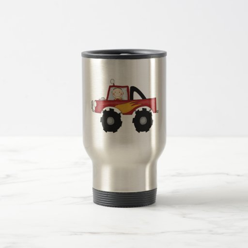 Red Monster Truck Tshirts and Gifts Mugs
